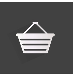 Shopping bag web icon vector