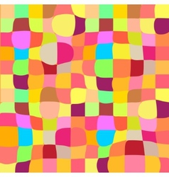 Colorful mosaic twisted background vector image