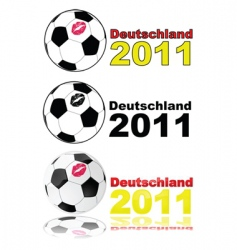 Women's soccer germany 2011 vector