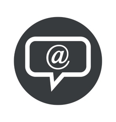Monochrome round mail message icon vector