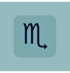 Pale blue Scorpio icon vector image
