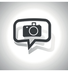 Curved camera message icon vector
