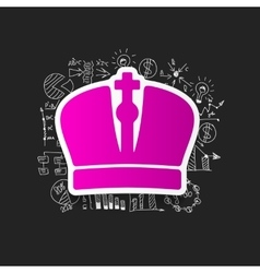 Drawing business formulas crown vector