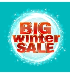 Winter sale words 3d red phrase vector