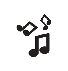 Black icon on white background music note vector