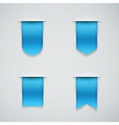 Set of blue ribbons vector