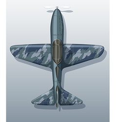 Army plane on gray vector image