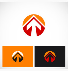arrow up round business logo vector image