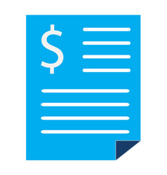bank statement sign bank statement icon on white vector image