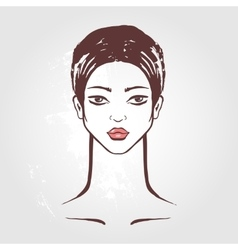 Beautiful Woman Portrait vector image vector image