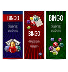bingo lottery lotto game banners set vector image vector image