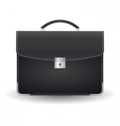black briefcase vector image vector image