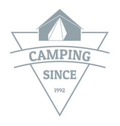 camping logo vintage style vector image
