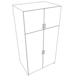 closed cabinet vector image