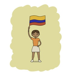 Colombia flag vector