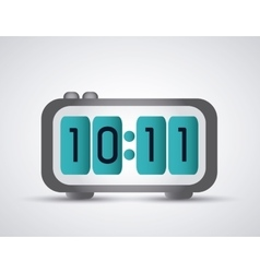Colorfull digital clock icon time design vector