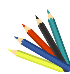 Colourful pencils on a white background vector