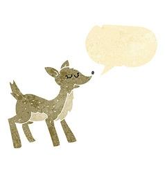 Cute cartoon deer with speech bubble vector