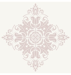 Damask pattern orient pink ornament vector