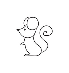 Doodle mouse animal icon vector