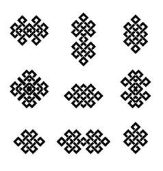 Ethnic signs and symbols vector
