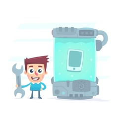 extreme testing of the new smartphone vector image vector image