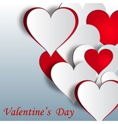 Festive background from hearts greeting vector