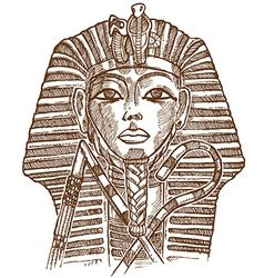 Golden mask of egyptian pharaoh vector