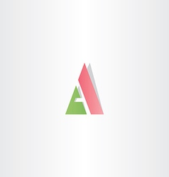 Green red logotype letter a logo triangle icon vector