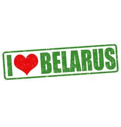 i love belarus stamp vector image vector image