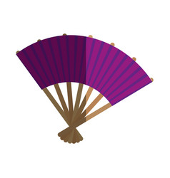 japanese culture fan icon vector image