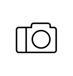 line camera icon on white background vector image