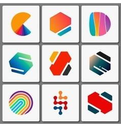 Logo design set Geometric logos Creative vector image vector image