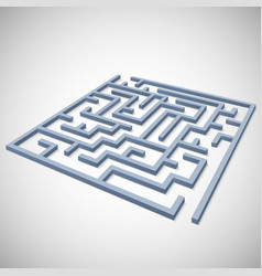 Maze concept for your business presentation vector