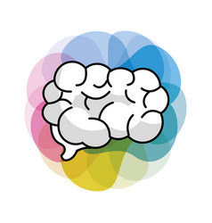 Mental health brain art vector