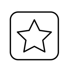 monochrome contour square with star icon vector image