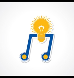 Musical inspiration creativity concept as a music vector