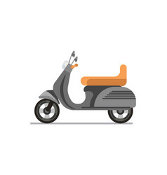 scooter or motorbike isolated on white vector image vector image
