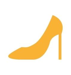 shoe elegant female icon vector image