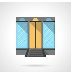 Shopping center facade flat design icon vector image vector image