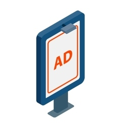 Signboard for AD icon isometric 3d style vector image vector image