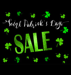 St patrick s day sale banner vector