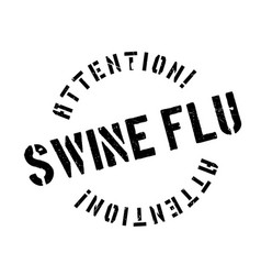 swine flu rubber stamp vector image