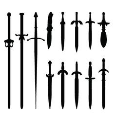 swords 2 vector image