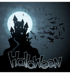 EPS 10 Halloween background with moon bats vector image