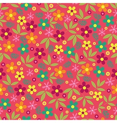 Colorful flowers seamless pattern background vector