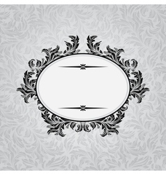 Retro background with vintage calligraphic ornate vector image