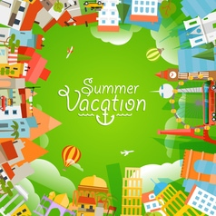 Travel concept summer vacation vector