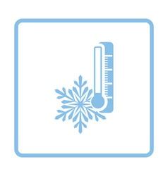 Winter cold icon vector