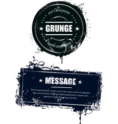 Grunge dirty banners vector image